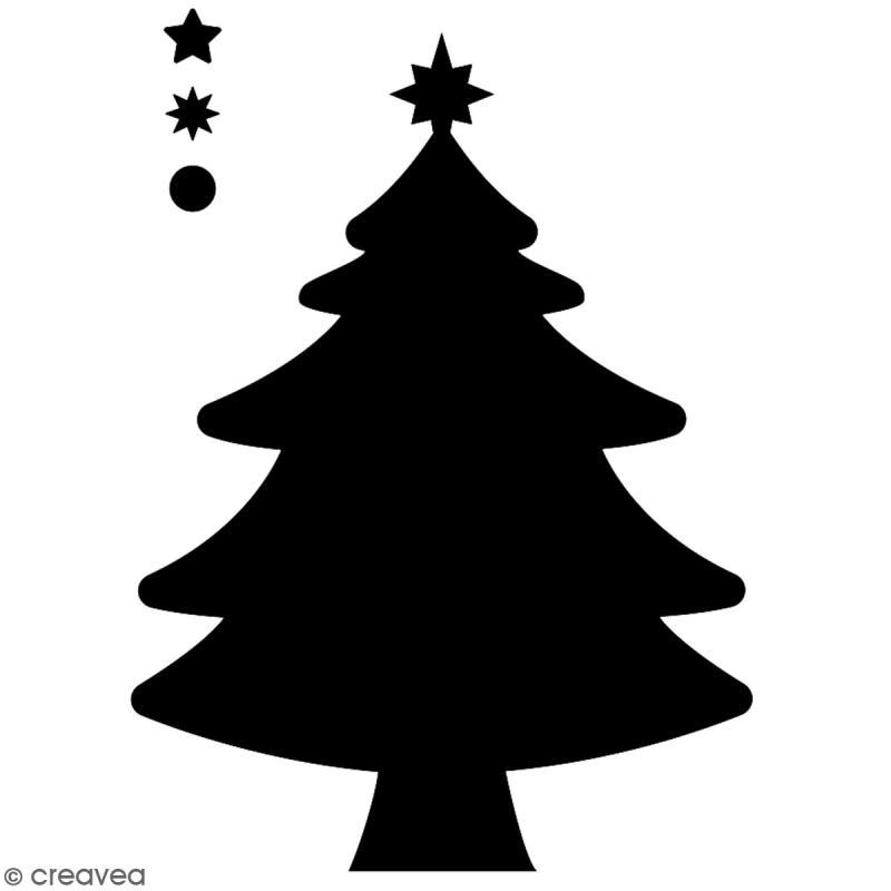 Pochoir multiusage A5 - Sapin de Noël - 1 planche - Collection Noël - Photo n°2