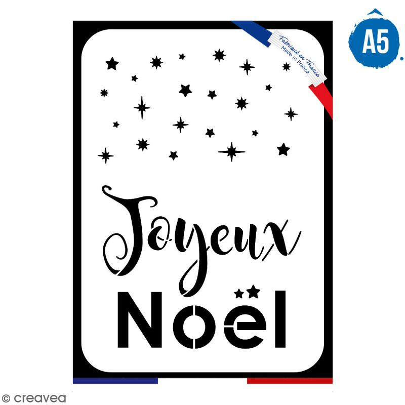 Pochoir multiusage A5 - Joyeux Noël - 1 planche - Collection Noël - Photo n°1