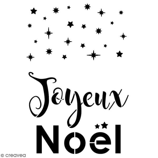 Pochoir multiusage A5 - Joyeux Noël - 1 planche - Collection Noël - Photo n°2