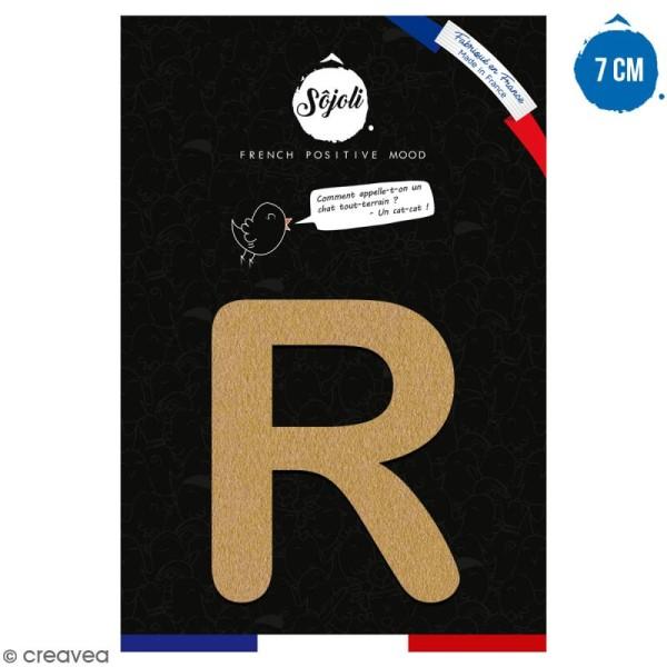 Lettre R en bois à décorer - 7 cm - Collection Alphabet arrondi - Photo n°1