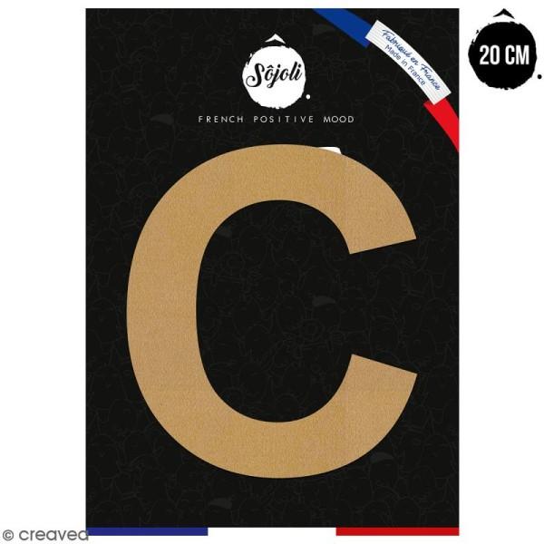 Lettre C en bois à décorer - 20 cm - Collection Alphabet sans serif - Photo n°1