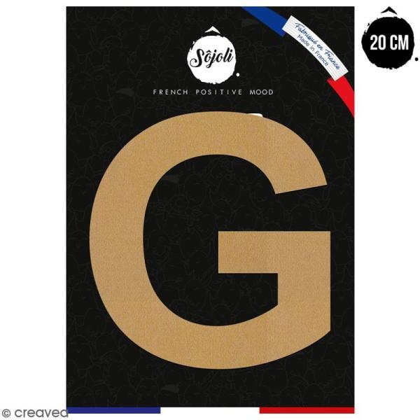 Lettre G en bois à décorer - 20 cm - Collection Alphabet sans serif - Photo n°1