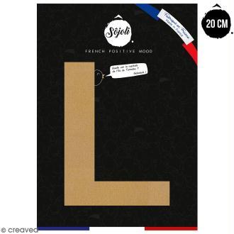 Lettre L en bois à décorer - 20 cm - Collection Alphabet sans serif