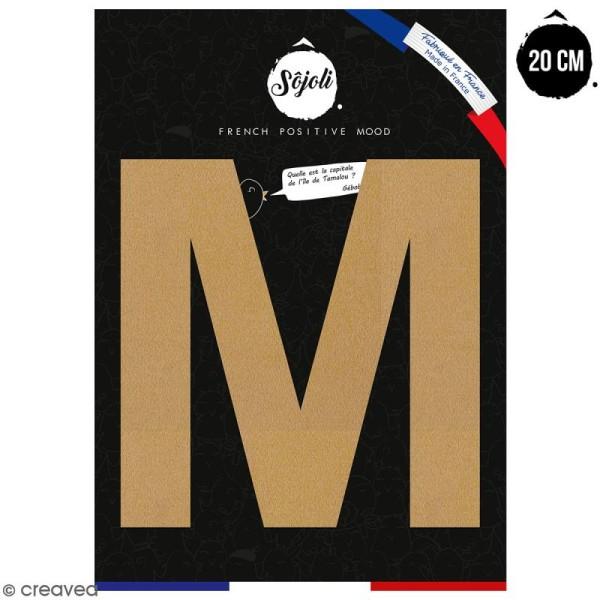 Lettre M en bois à décorer - 20 cm - Collection Alphabet sans serif - Photo n°1