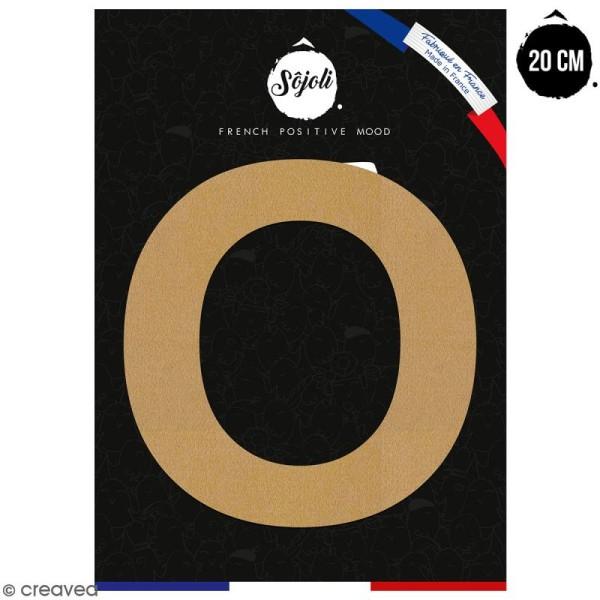 Lettre O en bois à décorer - 20 cm - Collection Alphabet sans serif - Photo n°1
