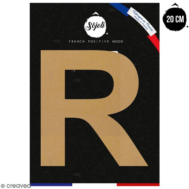Lettre R en bois à décorer - 20 cm - Collection Alphabet sans serif - Photo n°1