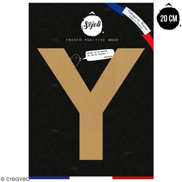 Lettre Y en bois à décorer - 20 cm - Collection Alphabet sans serif - Photo n°1