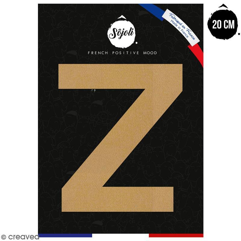 Lettre Z en bois à décorer - 20 cm - Collection Alphabet sans serif - Photo n°1