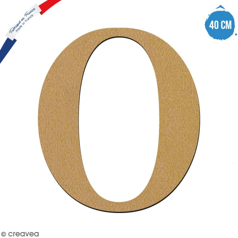 Lettre O en bois à décorer - 40 cm - Collection Alphabet serif - Photo n°1
