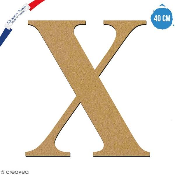 Lettre X en bois à décorer - 40 cm - Collection Alphabet serif - Photo n°1