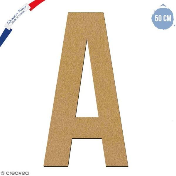 Lettre géante en bois 50 cm - A - Photo n°1
