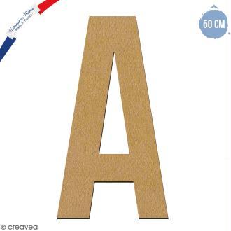 Lettre géante en bois 50 cm - A