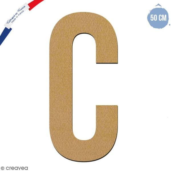 Lettre géante en bois 50 cm - C - Photo n°1