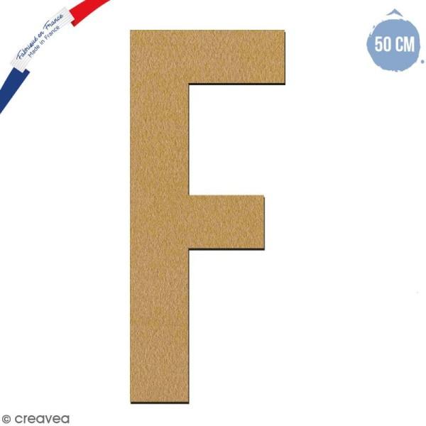 Lettre géante en bois 50 cm - F - Photo n°1