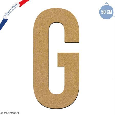 Lettre géante en bois 50 cm - G - Sôjoli
