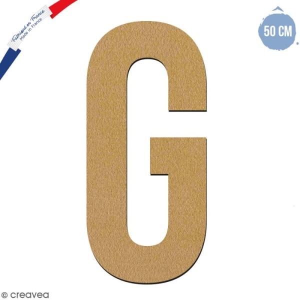 Lettre géante en bois 50 cm - G - Photo n°1