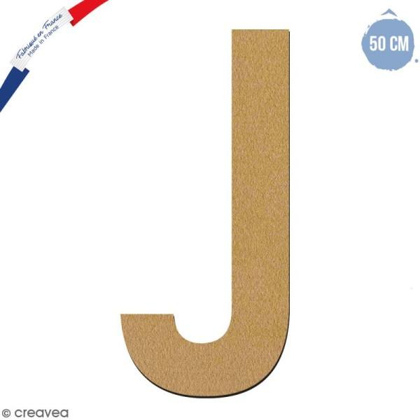 Lettre géante en bois 50 cm - J - Photo n°1