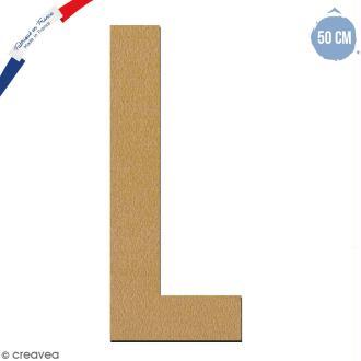 Lettre géante en bois 50 cm - L