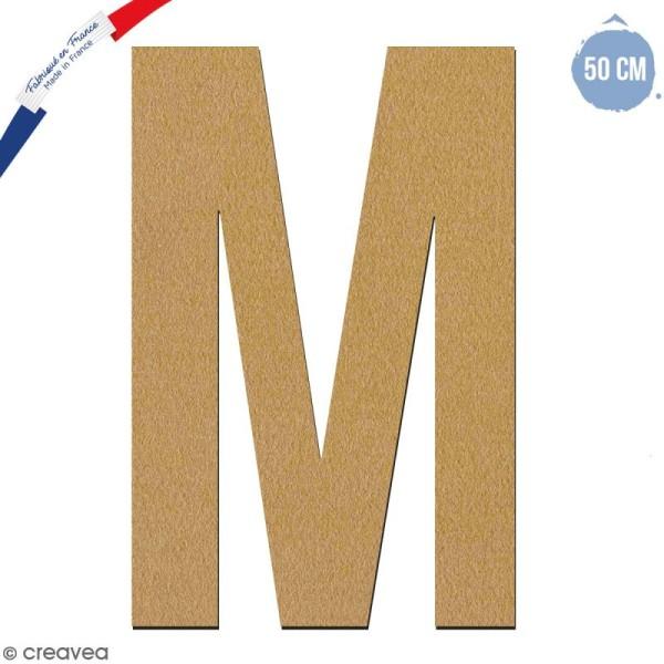 Lettre géante en bois 50 cm - M - Photo n°1