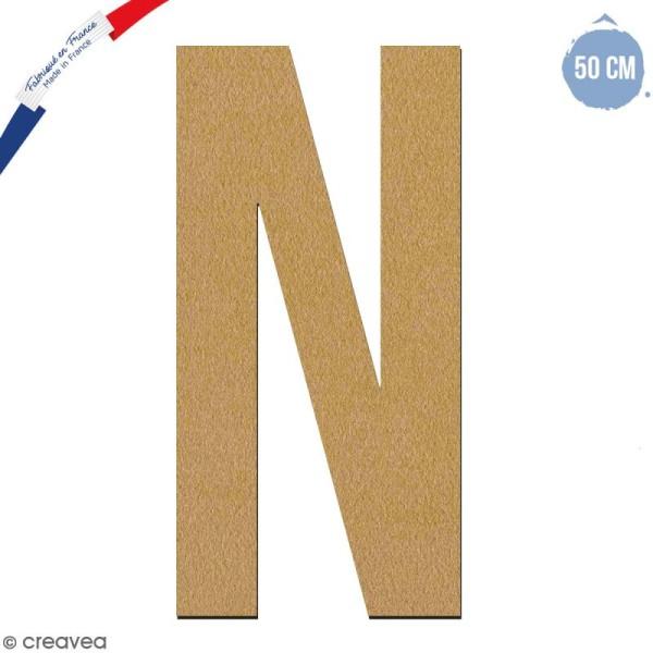 Lettre géante en bois 50 cm - N - Photo n°1