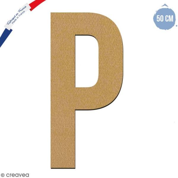 Lettre géante en bois 50 cm - P - Photo n°1