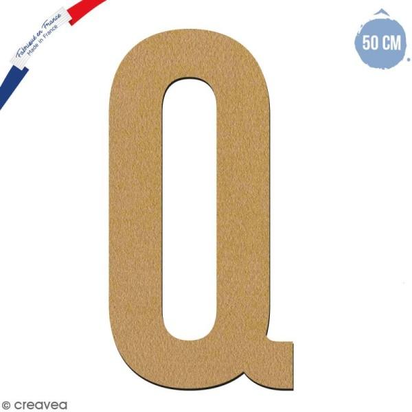 Lettre géante en bois 50 cm - Q - Photo n°1