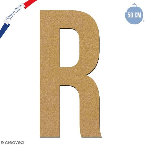 Lettre géante en bois 50 cm - R - Photo n°1