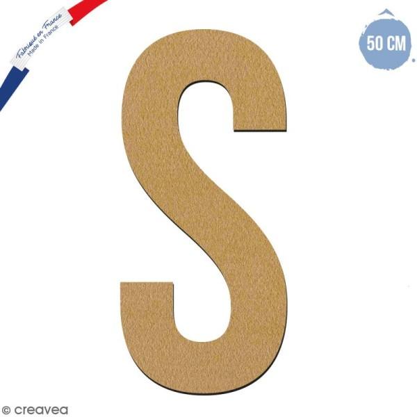 Lettre géante en bois 50 cm - S - Photo n°1