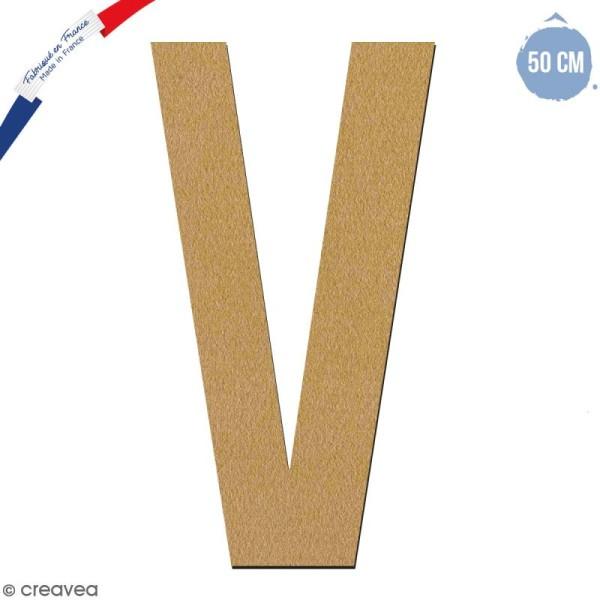 Lettre géante en bois 50 cm - V - Photo n°1