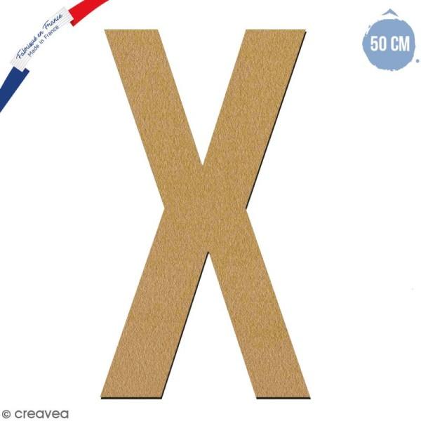 Lettre géante en bois 50 cm - X - Photo n°1