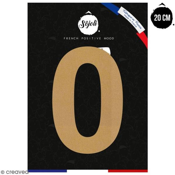 Chiffre 0 en bois à décorer - 20 cm - Collection Alphabet sans serif - Photo n°1