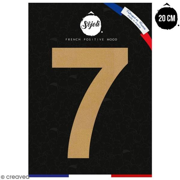 Chiffre 7 en bois à décorer - 20 cm - Collection Alphabet sans serif - Photo n°1