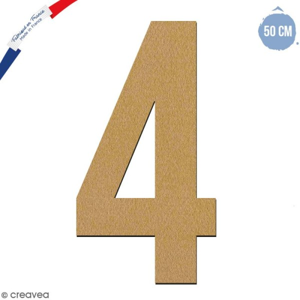 Chiffre en bois 50 cm - 4 - Photo n°1