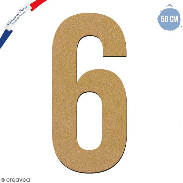 Chiffre en bois 50 cm - 6 - Photo n°1