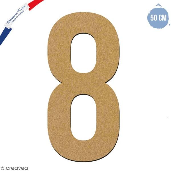 Chiffre en bois 50 cm - 8 - Photo n°1