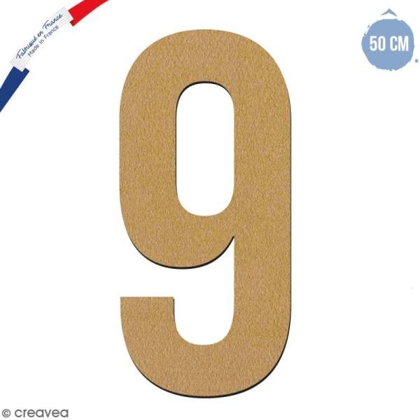 Chiffre en bois 50 cm - 9 - Photo n°1