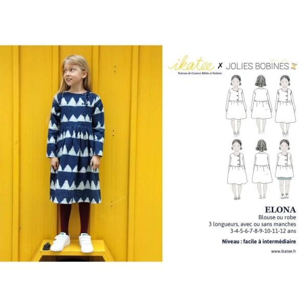 Patron Robe Blouse Elona by Ikatee pour fille du 3 au 12 ans - Photo n°3