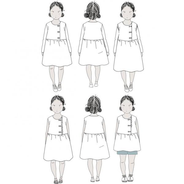Patron Robe Blouse Elona by Ikatee pour fille du 3 au 12 ans - Photo n°4