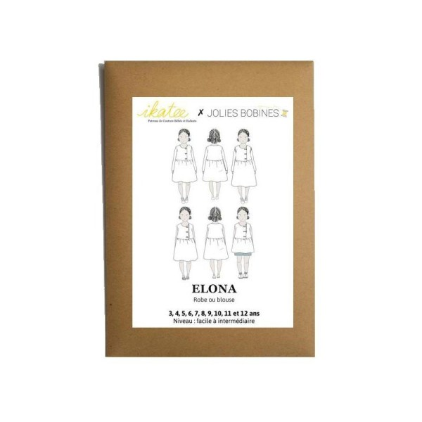 Patron Robe Blouse Elona by Ikatee pour fille du 3 au 12 ans - Photo n°1