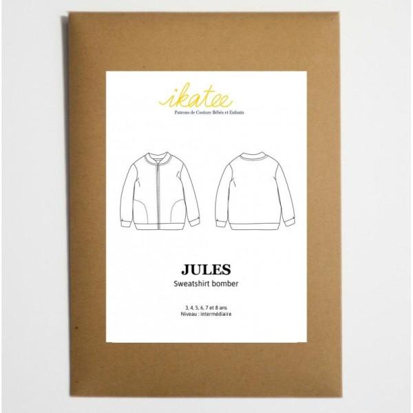 Patron sweatshirt BOMBER à zip JULES by Ikatee pour garçon ou fille du 3 au 8 ans - Photo n°1
