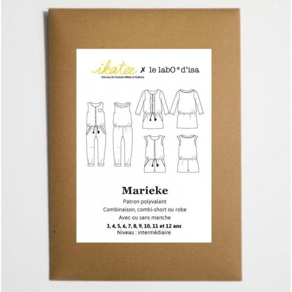 Patron Combi-short, combi pantalon ou robe MARIEKE by Ikatee pour fille du 3 au 12 ans - Photo n°1