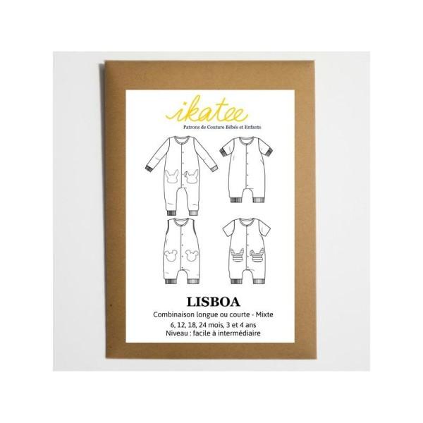 Patron Combinaison mixte LISBOA by Ikatee pour bébé du 1 mois au 4 ans - Photo n°1