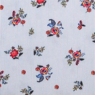 Tissu viscose spring little flowers - Multicolore - PAR 50CM