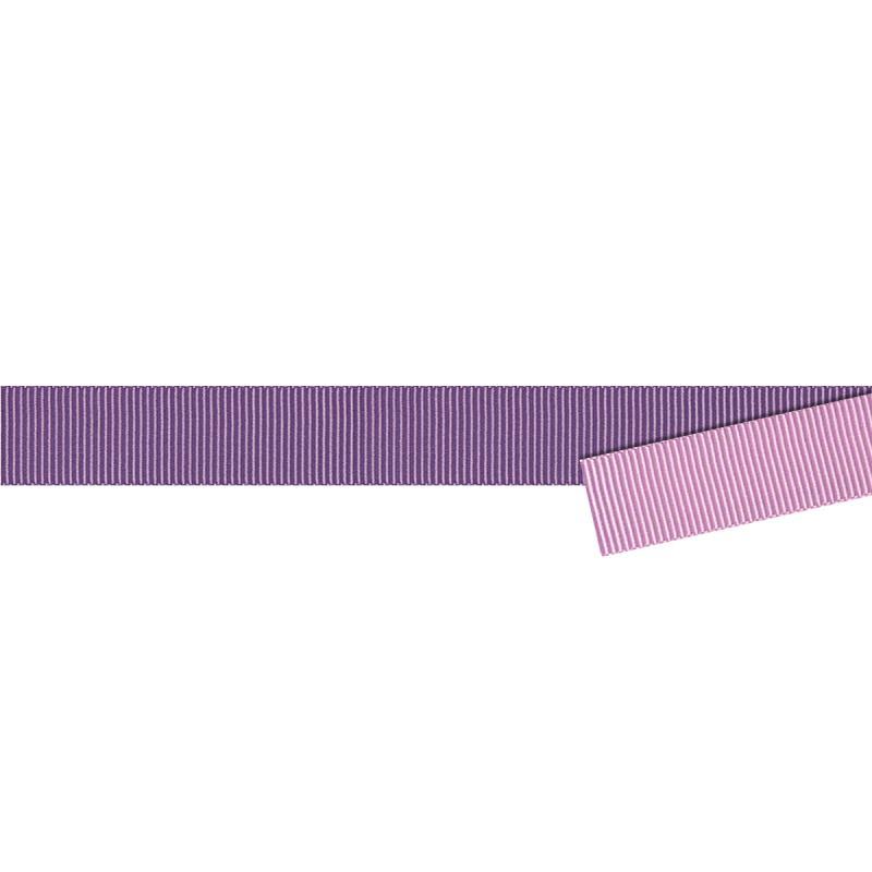 Ruban gros grain bicolore 16 mm parme au m tre sur for Acheter miroir sur mesure