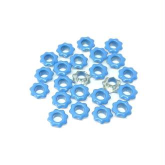 20 Oeillets fleurs bleues couture vêtements scrapbooking