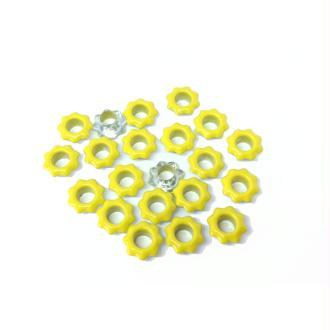20 Oeillets fleurs jaunes couture vêtements scrapbooking
