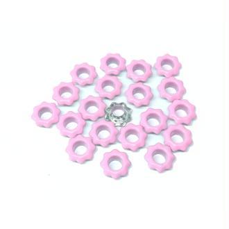 20 Oeillets fleurs roses couture vêtements scrapbooking