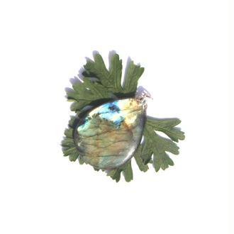 Labradorite : Pendentif fait main 5,5 CM de hauteur x 3,6 CM de largeur max