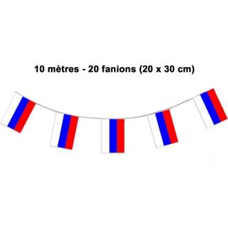 Guirlande Russie 10 mètres PVC - 20 fanions 20 x 30