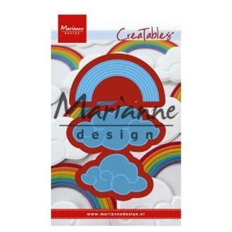 Die Creatables Marianne Design - Nuages et arc-en-ciel - 3 pcs